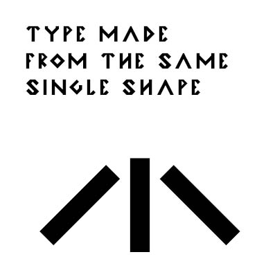 Looking back to create something new - Using ancient paleolithic cave art and symbols I wanted to create a simple typeface that could have been drawn by Otzi himself.