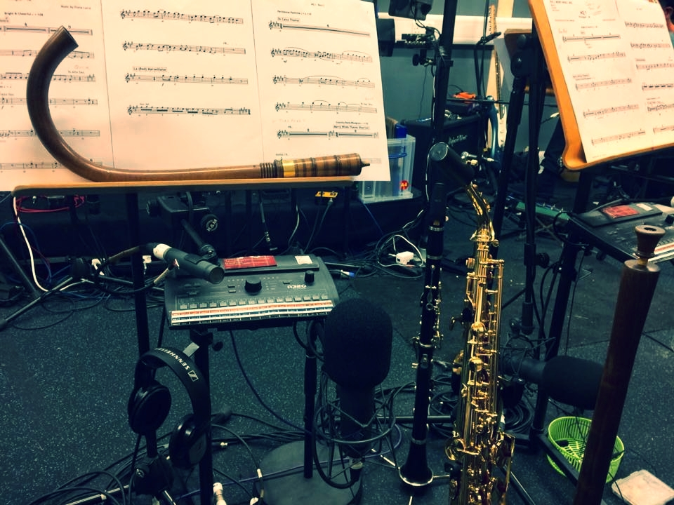 Crumhorn, clarinet, sax and shawm - all under the expert care of reed ace Jude Rees