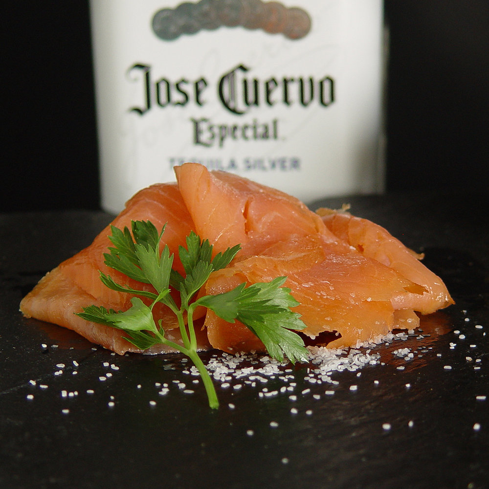 Tequila & Cilantro Smoked Salmon