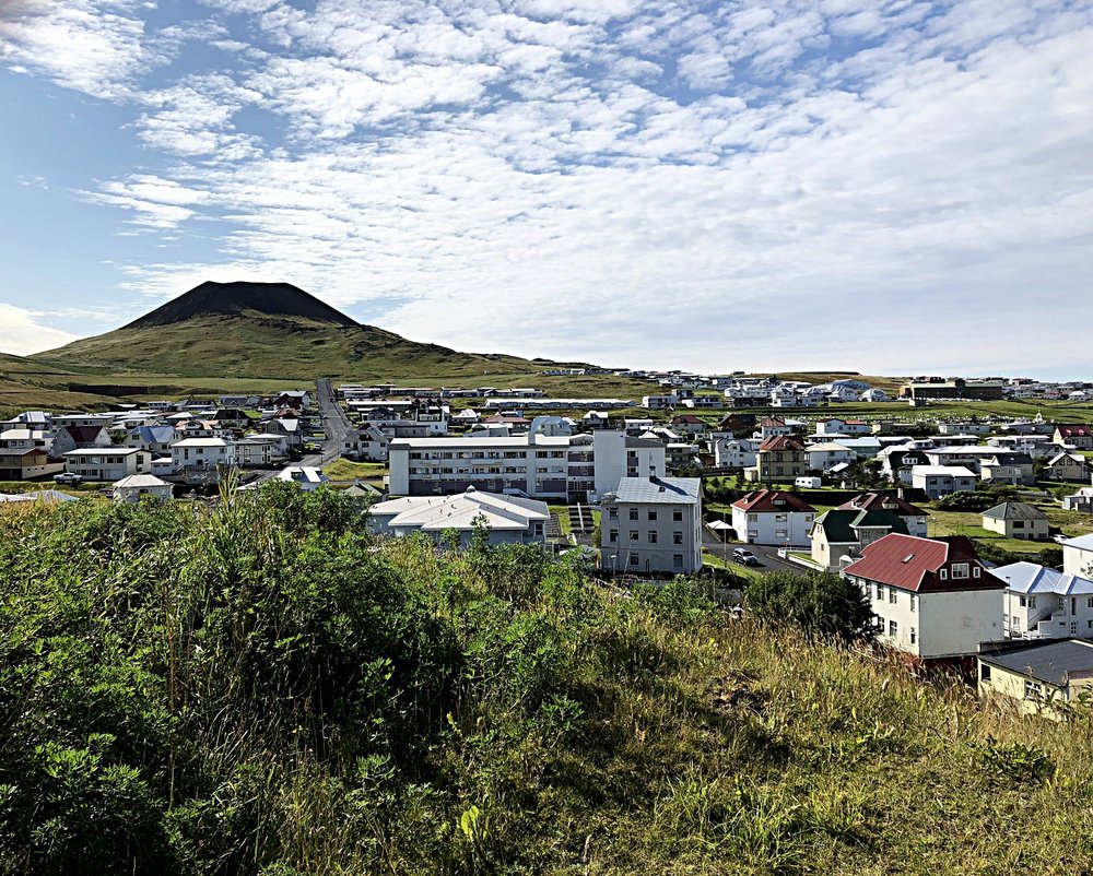 The old volcano on Vestmannaeyjar.