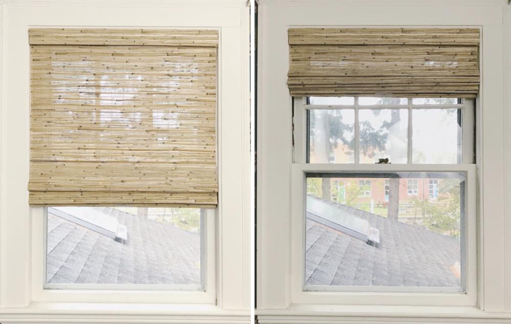 Trim Design Co. Hunter Douglas Woven Wood Provenance Roman Shades