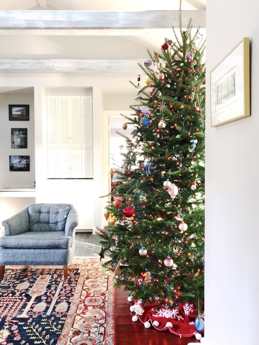 eclectic vintage christmas tree