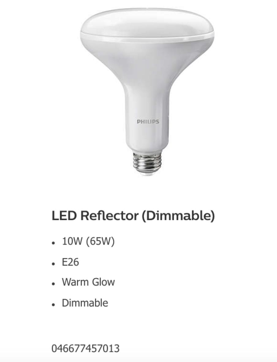 Philips Warm Glow LED Bulb