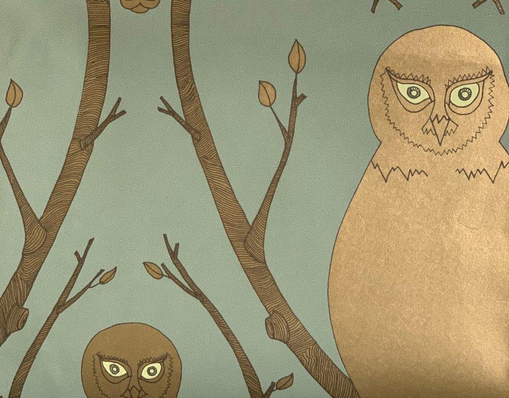 Abigail Edwards Briar Owl in Gold