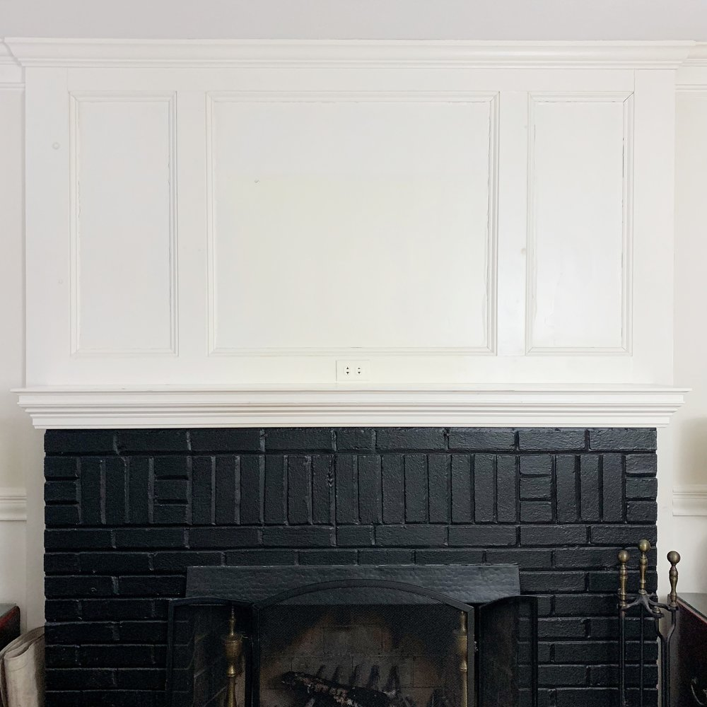 The empty mantel: A blank piece of paper