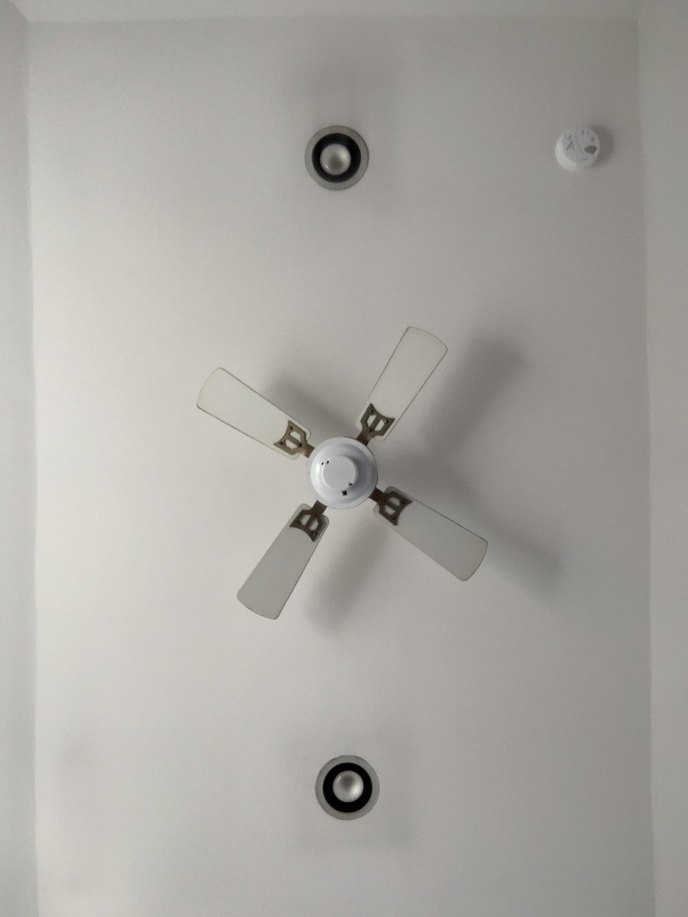 Update the fan and the recessed lighting