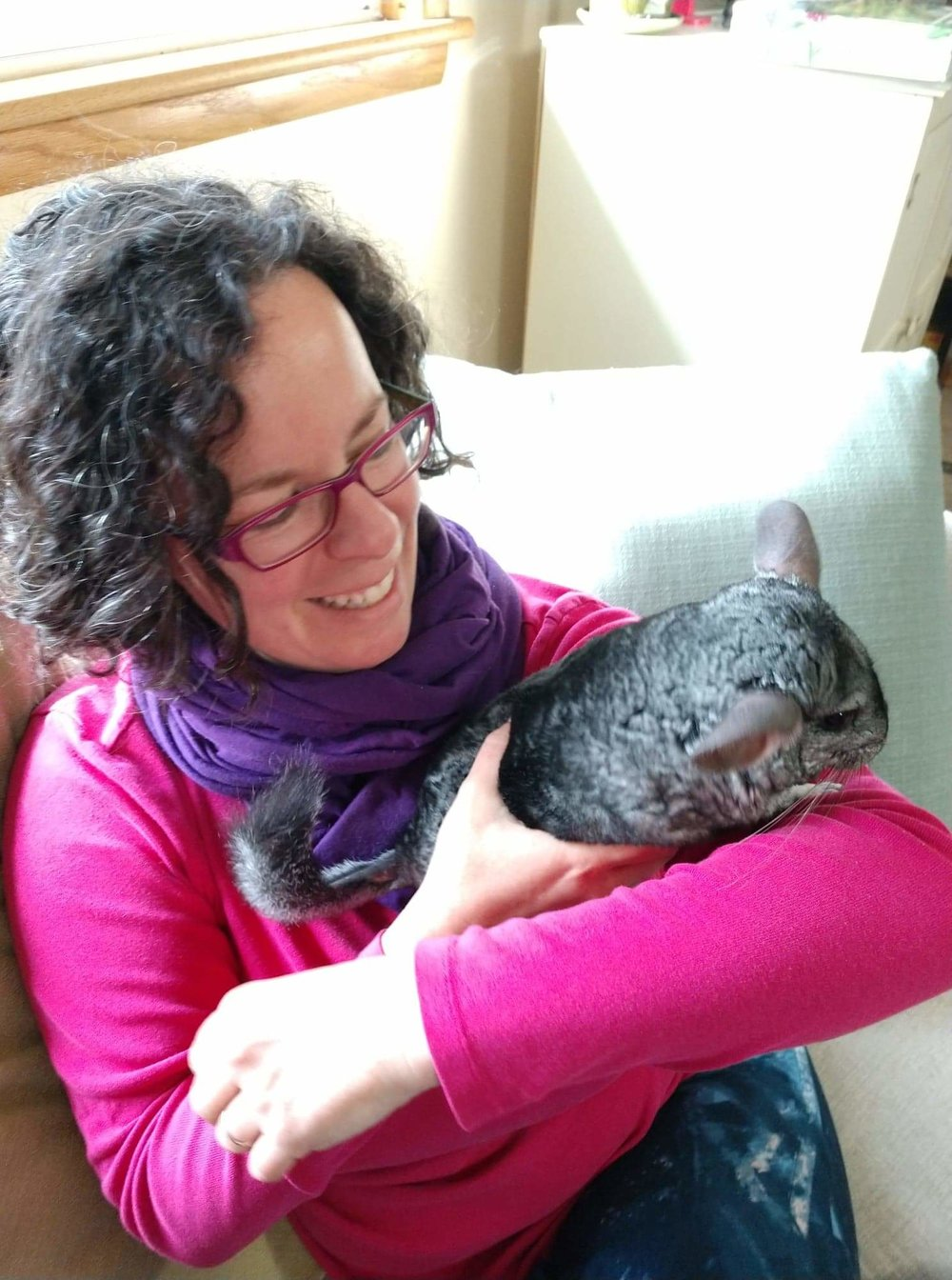 Resident Chinchilla extraordinaire Balo and Lindsey