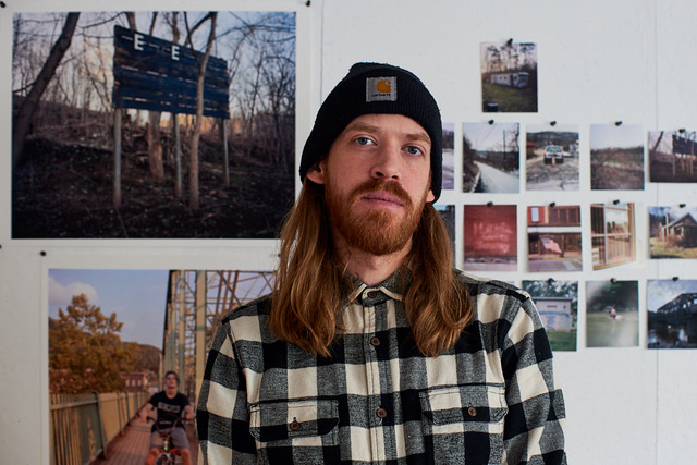 """Photographer, Jake Reinhart, with images from """"Where the Land Gives Way."""""""