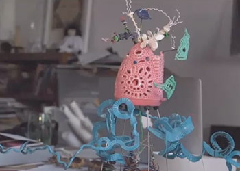 Bridgeport artist makes sculptures from trash