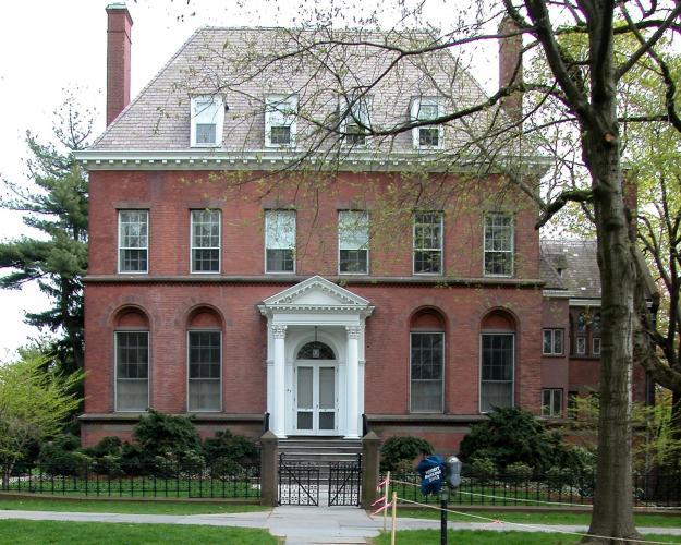 Pelatiah Perit House, 55 Hillhouse Avenue. Architect: Henry Mason Stone, c. 1860-61.