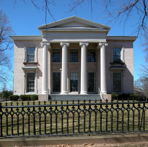 Skinner-Trowbridge House, 46 Hillhouse Avenue. Architect: Town and Davis, 1831-32.