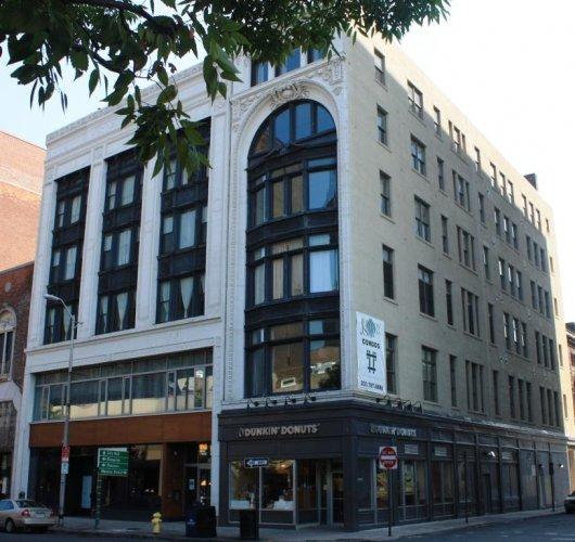 Johnson-Simons Building, 81-83 Church Street, 1875; facade 1914.