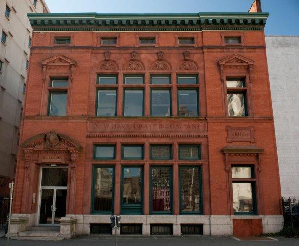 New Haven Water Company, 100-106 Crown Street. Architect: Leoni Robinson, 1903.