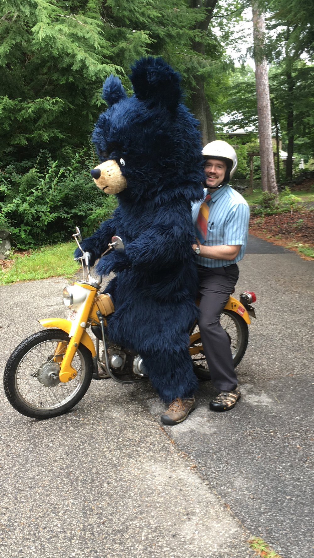 Ryan Higgins Riding with Bruce.JPG