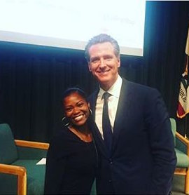 Kashmiere Young, SMAC Fellow (Left), Gavin Newsom, Governor Candidate (Right)