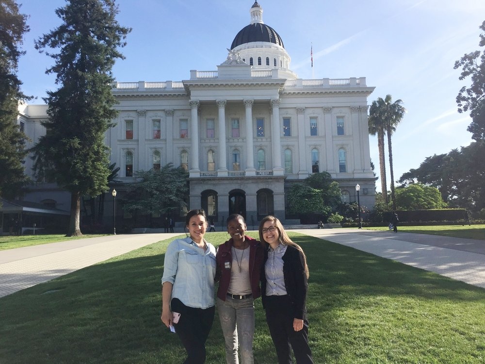 Helen Yasko (SMAC fellow on left), Kashmiere Young (SMAC fellow in the middle), and Denise Castro (SMAC Program Coordinator in the right)