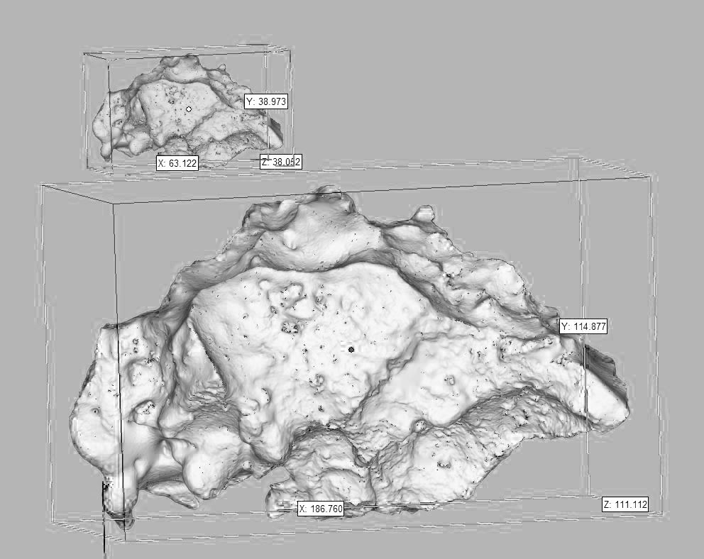 3D scans of salt crystals , Hannah Rowan, 2018.