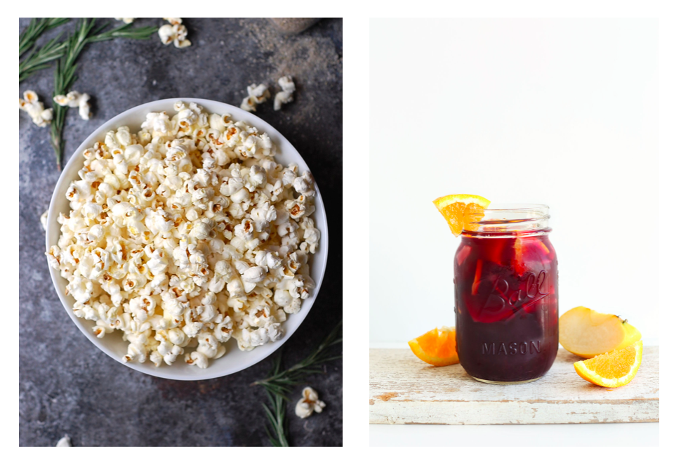 Truffle Popcorn and Sangria