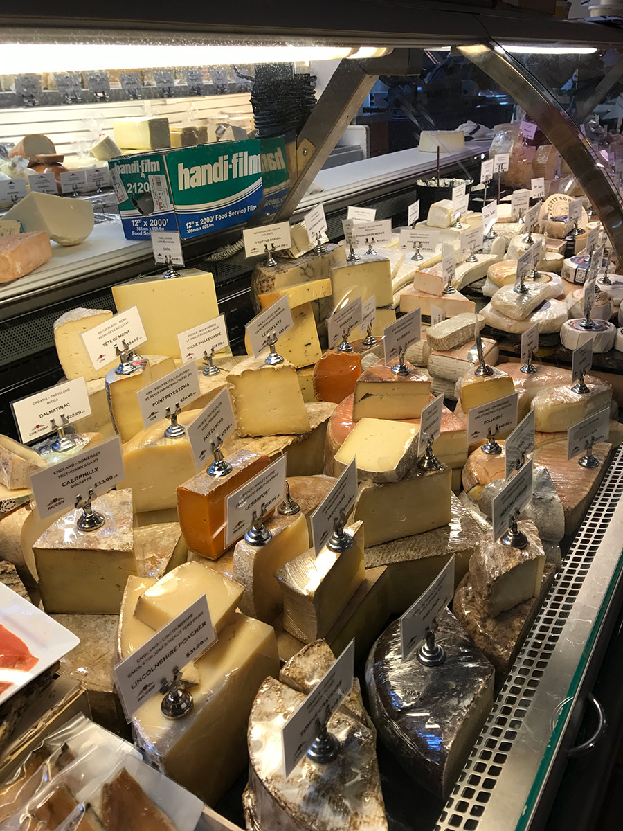 Of course, we found DeLaurenti, the Italian grocery store with the gorgeous cheese counter...