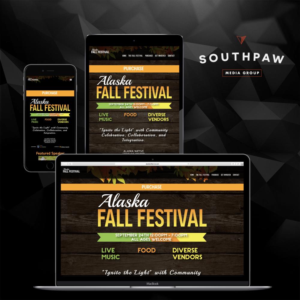 Web Design - Alaska Fall Festival