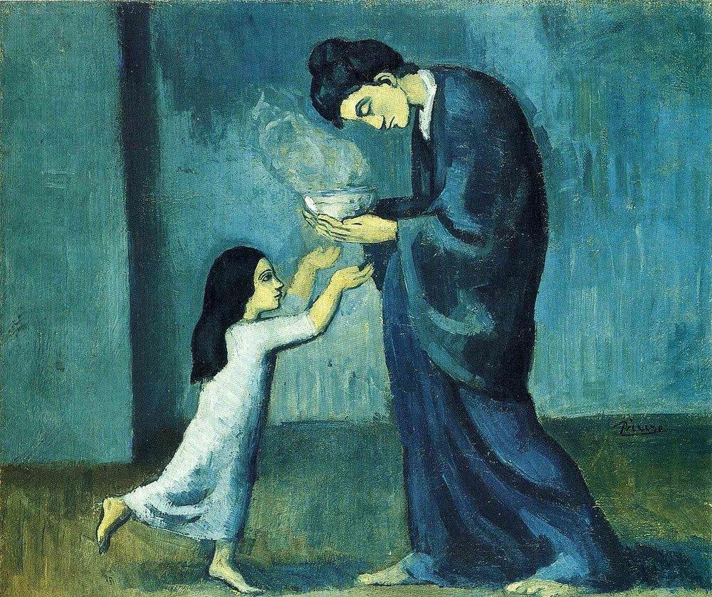 Pablo_Picasso,_1902-03,_La_soupe_(The_soup),_oil_on_canvas,_38.5_x_46.0_cm,_Art_Gallery_of_Ontario,_Toronto,_Canada.jpg