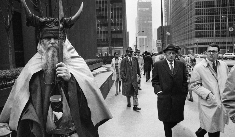 Can you tell which person in this photograph is Moondog?