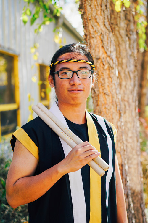 Tung was born and raised in Saigon, Vietnam. He moved to the US in 2013 and has been pursuing a degree in Anthropology since then. His first encounter with taiko was during the 2017 Transfer Welcome day at UC Berkeley. The energetic and artistic performance left a strong impression on him and he decided to try out for Cal Taiko. His hobbies are reading, PC gaming, watching (and playing) soccer as well as contemplating on somewhat philosophical questions. Although he can look serious and is quiet most of the time, please feel free to chat him up. He won't bite!