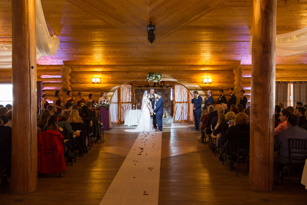 Photographer: Nicki Lynn | Venue: Glenhaven Wedding winter wedding | indoor ceremony.jpg