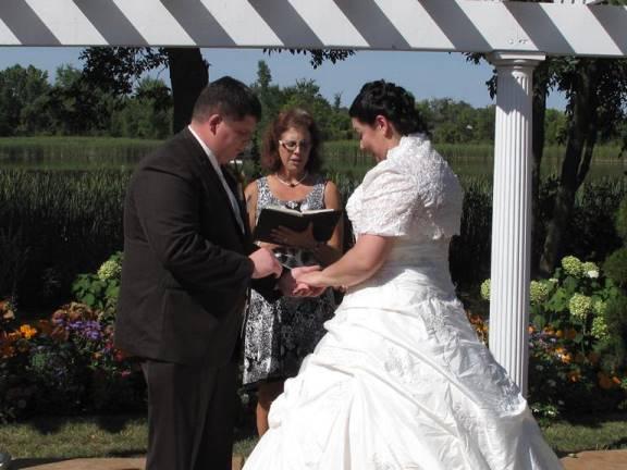 Rev. Toni Maki all faiths officiant in Minnesota at Cindyrella's Garden