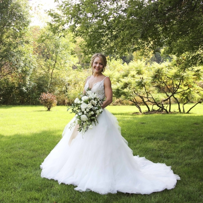 Cindyrella's Garden | Outdoor Minnesota wedding ceremony with garden and lake