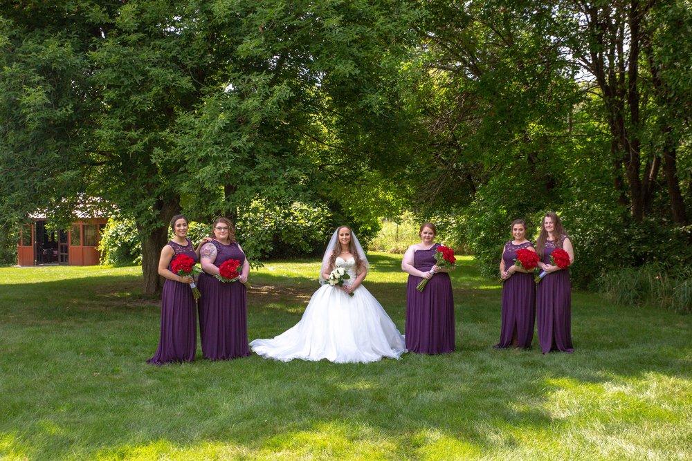 Cindyrella's Garden, Fab Weddings, outdoor Minnesota ceremony, Rosemount wedding, south metro, bridal party