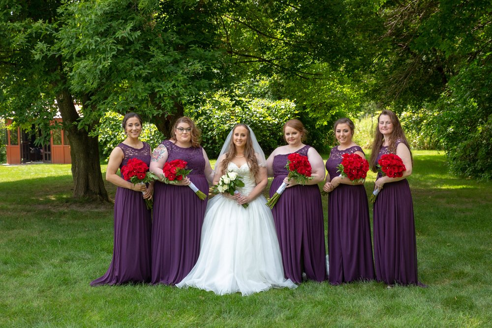 Cindyrella's Garden, Fab Weddings, outdoor Minnesota ceremony, Rosemount wedding, south metro, eggplant bridesmaids