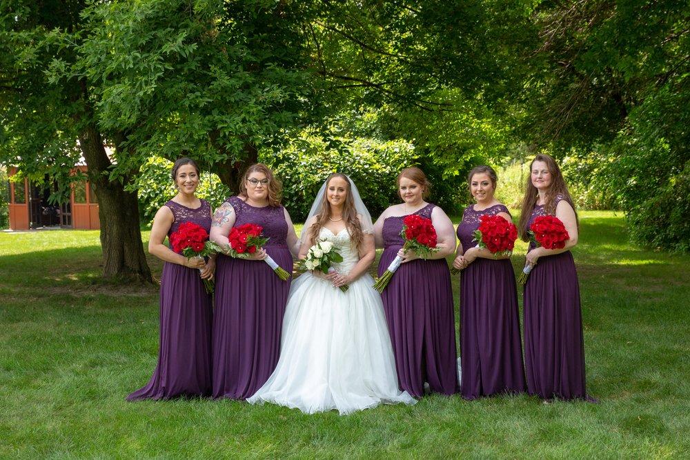 Cindyrella's Garden, Fab Weddings, outdoor Minnesota ceremony, Rosemount wedding, south metro, eggplant bridesmaids