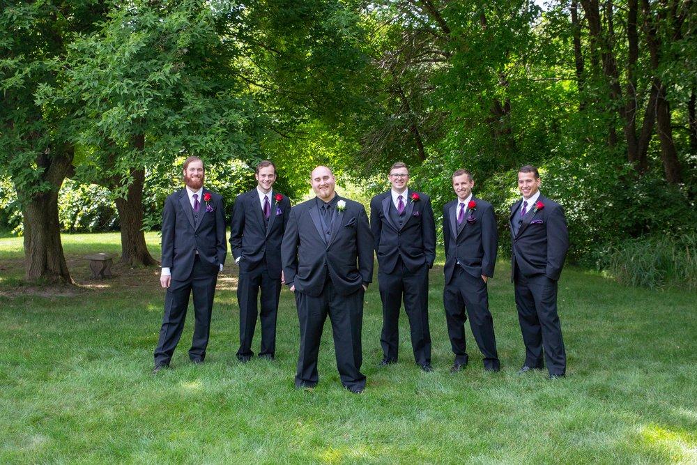 Cindyrella's Garden, Fab Weddings, outdoor Minnesota ceremony, Rosemount wedding, south metro, groomsmen photo