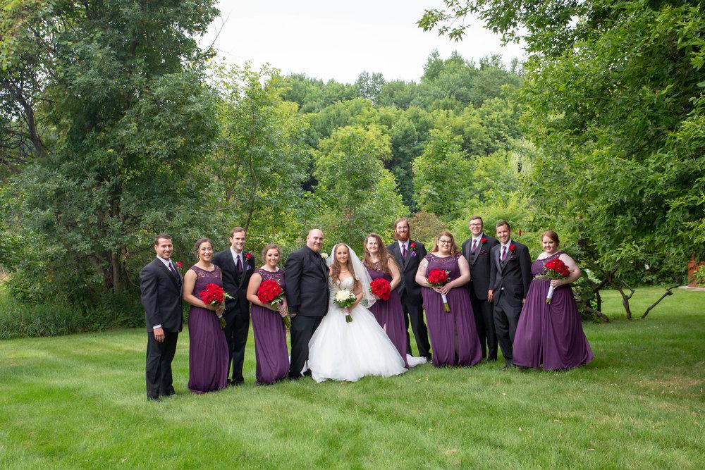 Cindyrella's Garden, Fab Weddings, outdoor Minnesota ceremony, Rosemount wedding, south metro, wedding party