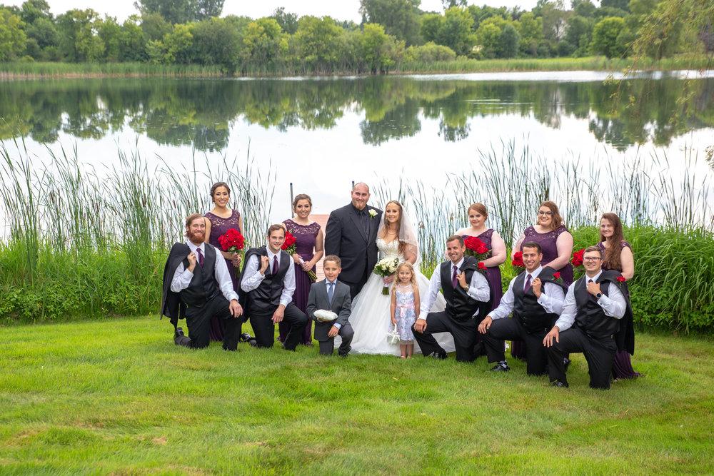 Cindyrella's Garden, Fab Weddings, outdoor Minnesota ceremony, Rosemount wedding, south metro, kneeling lake photo