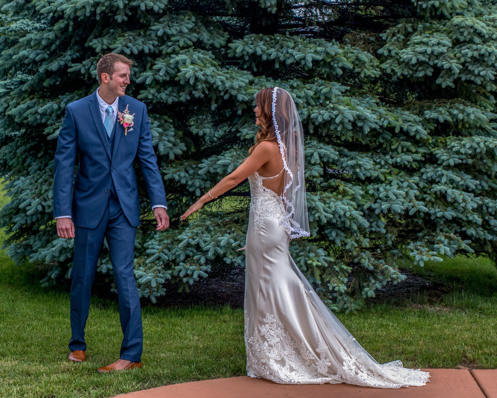 Minnesota Wedding at Glenhaven, outdoor ceremony, Fab Weddings, first look