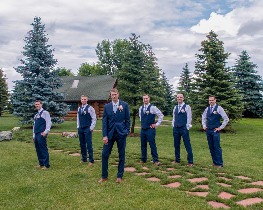 Minnesota Wedding at Glenhaven, outdoor ceremony, Fab Weddings, groomsmen in vest