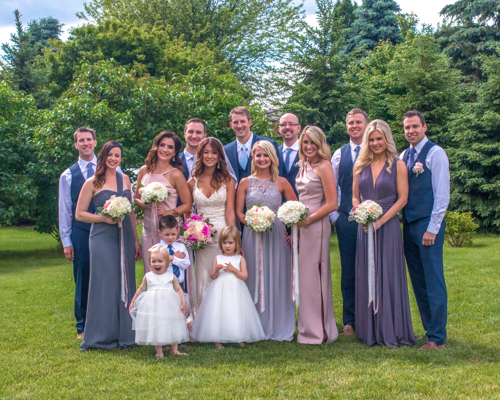 Minnesota Wedding at Glenhaven, outdoor ceremony, Fab Weddings, wedding party photo