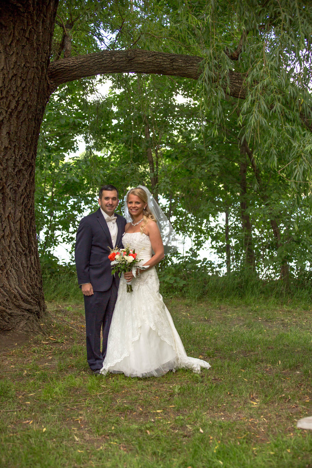 Cindyrellas Garden, outdoor lake ceremony in Minnesota, woods photo