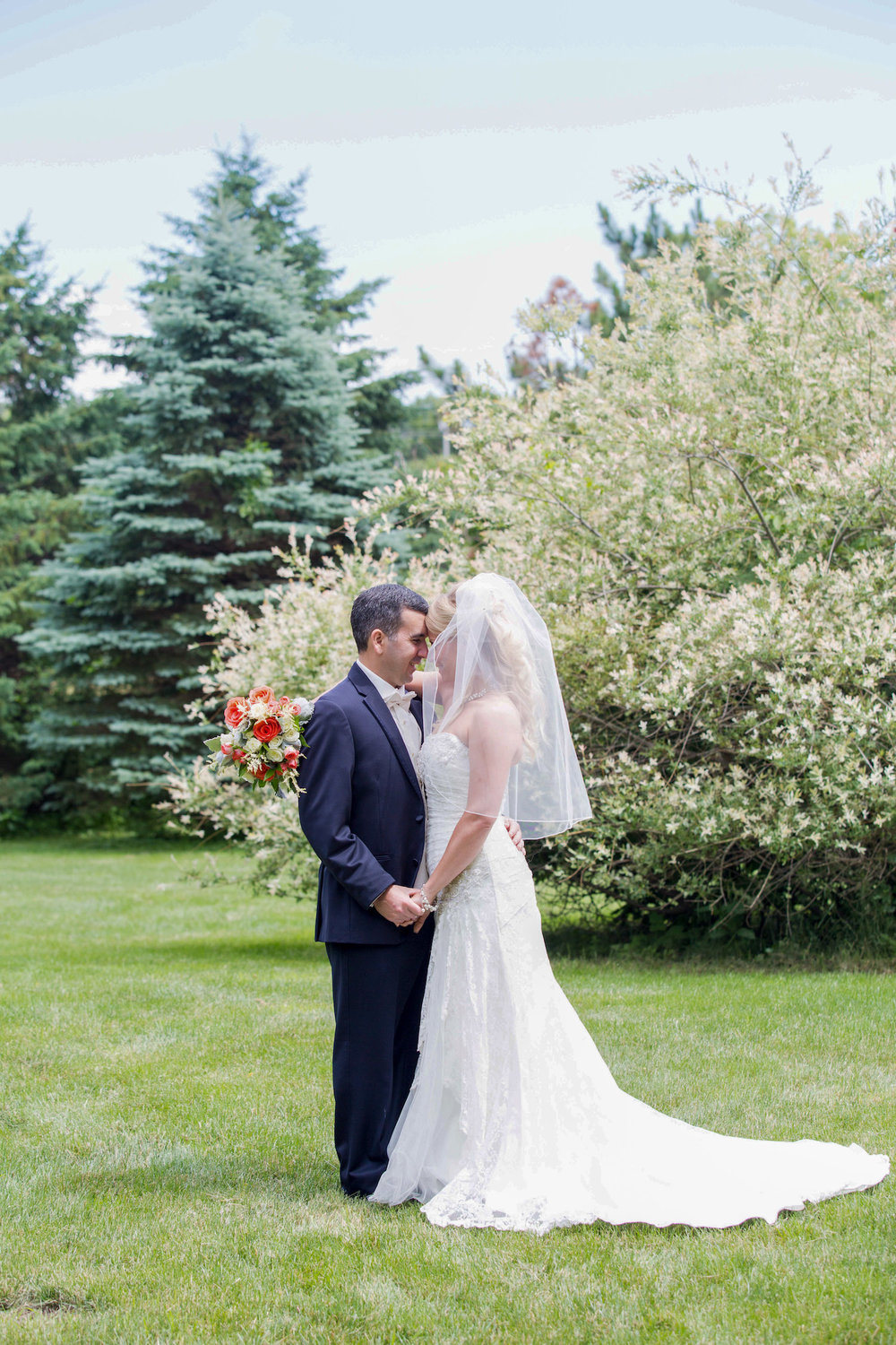 Cindyrellas Garden, outdoor lake ceremony in Minnesota, gorgeous tree backdrop