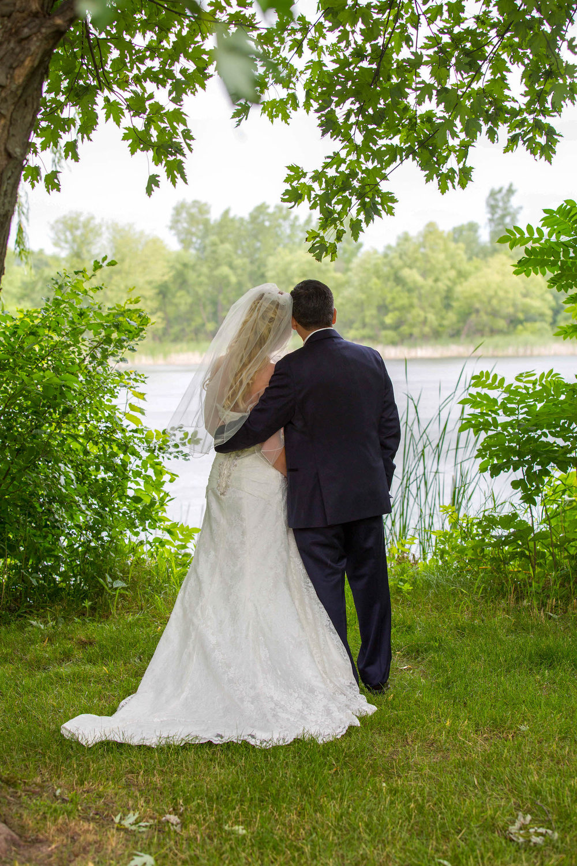 Cindyrellas Garden, outdoor lake ceremony in Minnesota,  overlooking the lake