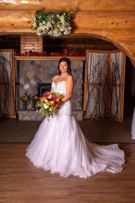 Glenhaven winter Minnesota wedding rustic barn, orange and yellow bouquet