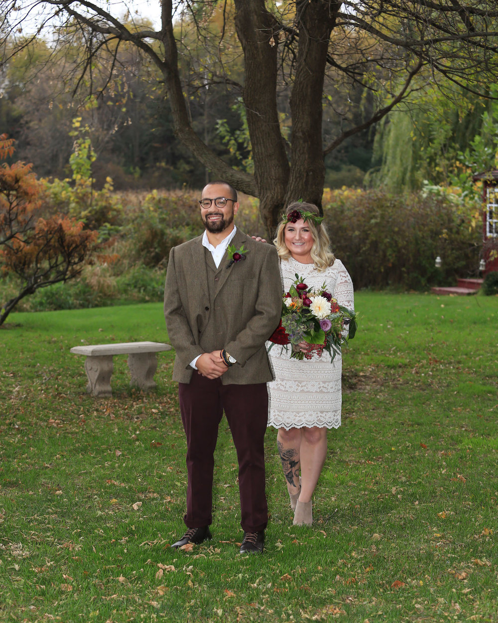 Cindyrella's Garden, outdoor ceremony on the lake in Minnesota, first look