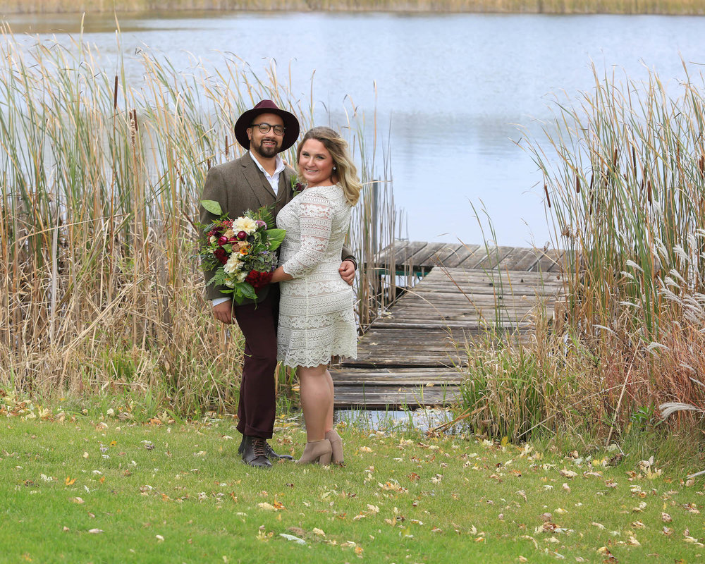 Cindyrella's Garden, outdoor ceremony on the lake in Minnesota, dock photo