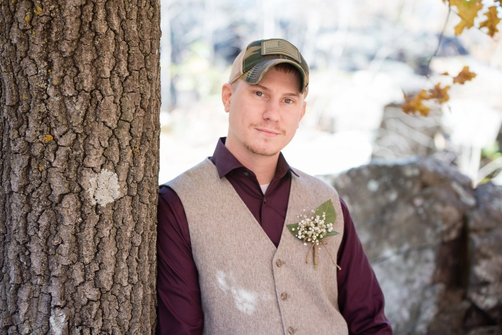 Danielle Albrecht, Fab Weddings | fall wedding | groom in vest