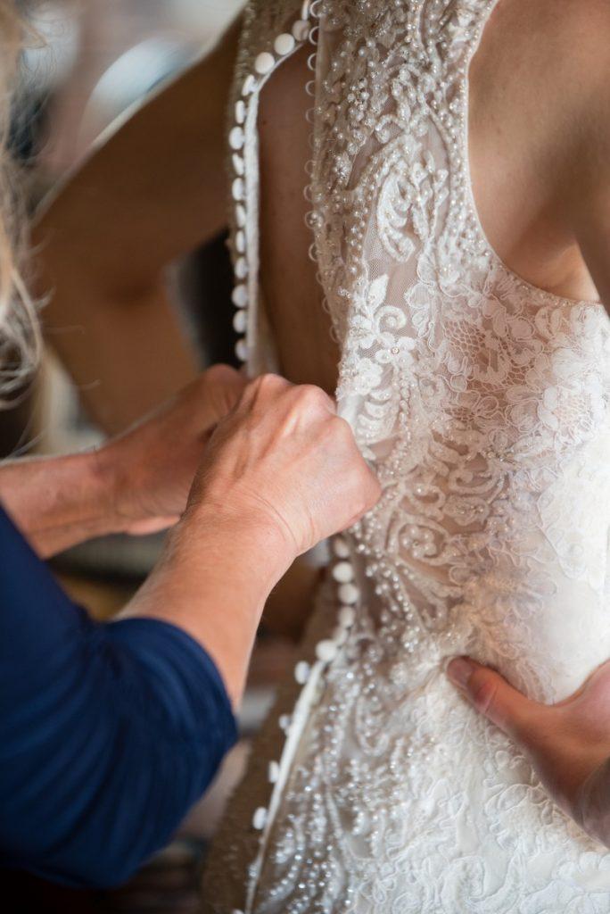 Danielle Albrecht, Fab Weddings | fall wedding | dress buttons