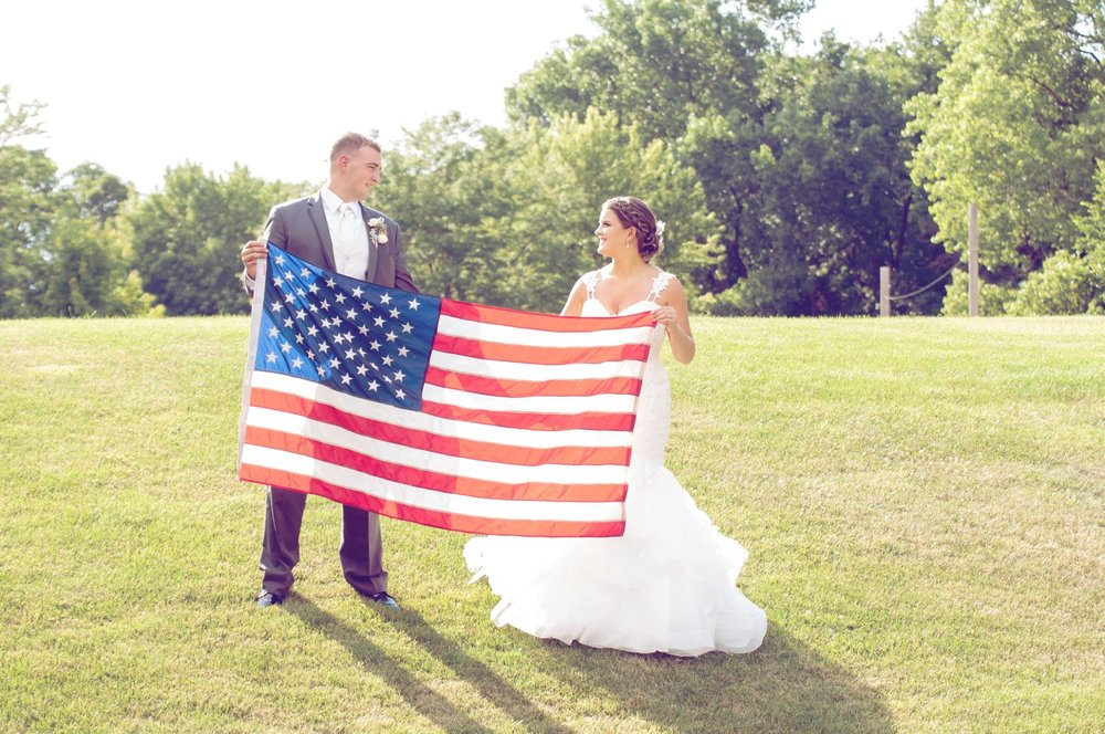 Danielle Albrecht all inclusive wedding photographer for fab weddings, military wedding