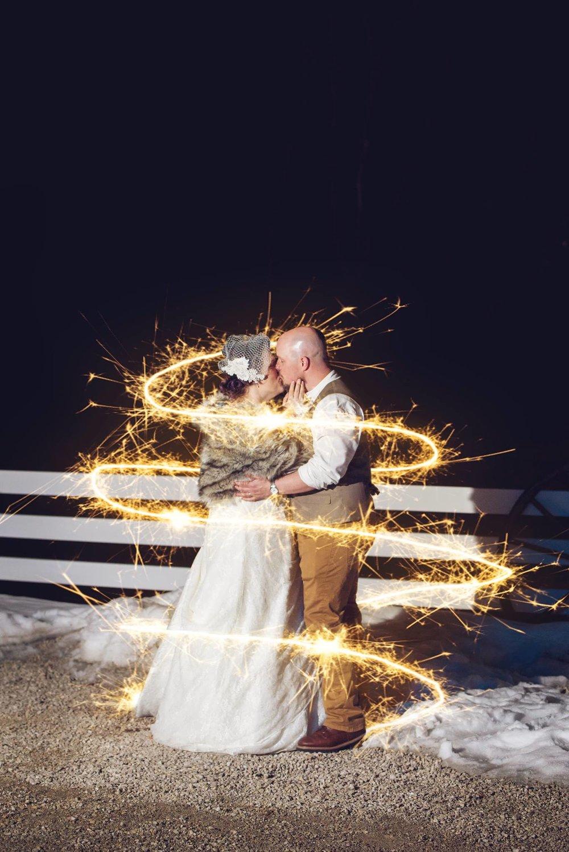 Danielle Albrecht all inclusive wedding photographer for fab weddings, sparkler