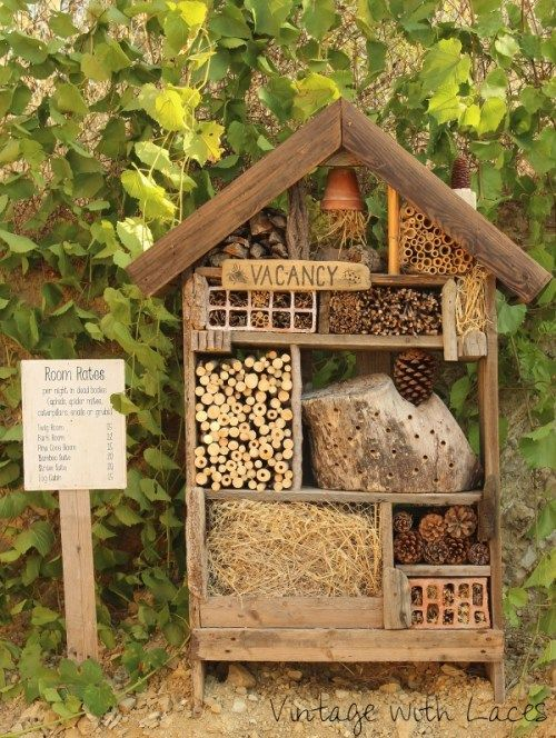 Bug Hotel diy by    Vintage With Laces